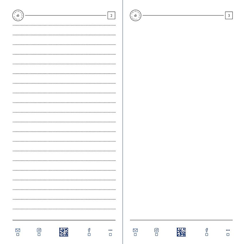 08.16 Lined 6,5 mm and blank pages