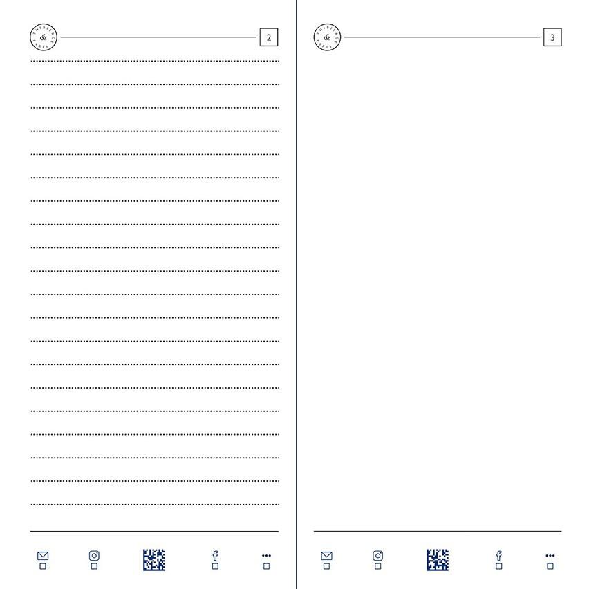 08.16 Pages Lignées 6,5 mm et unies